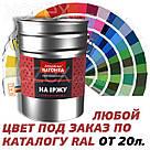 Днепровская Вагонка Структурная № 7024 Темно - Серая Краска -Эмаль 20лт, фото 4