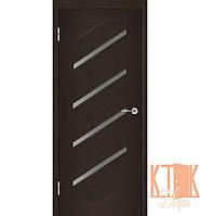 Межкомнатные двери Техно - Диагональ-1 ПО (венге)