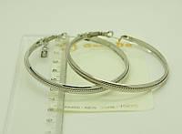 Серьги - кольца оптом под серебро по 3 грн .458