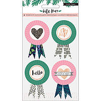Декор - Wild Heart - Gold Foil - Crate Paper - 4 Pieces