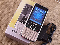 Мобильный телефон Nokia 6700 Золото Экран 2.4'' копия MicroUSB GPRS