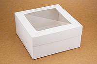 """Коробка """"Киев"""" М0053-о9 белая c окном, размер: 200*200*100 мм"""