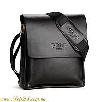 Мужская кожаная сумка POLO Videng (Чёрная)