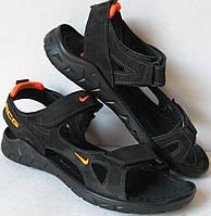 Nike кожаные мужские сандалии в стиле найк 40 41 42 43 44 45 сандали босоножки