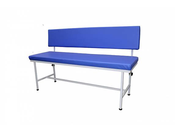 Банкетка медицинская MEDOK двухместная со спинкой, фото 2