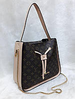 Сумка Louis Vuitton Луи Виттон коричневая с бежевым эко-кожа LOUIS VUITTON