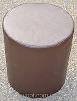 Пуфик цилиндр коричневый