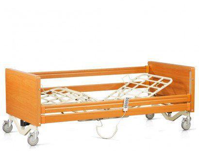 Ліжко з електроприводом 4х-секційне на колесах. Комплект: матрац, надліжковий тримач, поручні