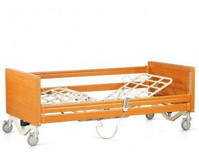 Ліжко з електроприводом 4х-секційне на колесах. Комплект: матрац, надліжковий тримач, поручні, фото 2
