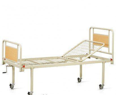 Ліжко функціональне механічне 2х-секційне на колесах. Комплект: матрац