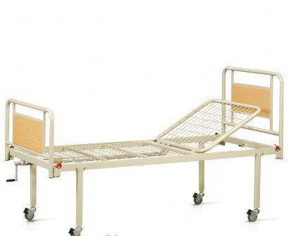 Ліжко функціональне механічне 2х-секційне на колесах. Комплект: матрац, фото 2