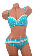 Женский раздельный купальник бирюзового цвета