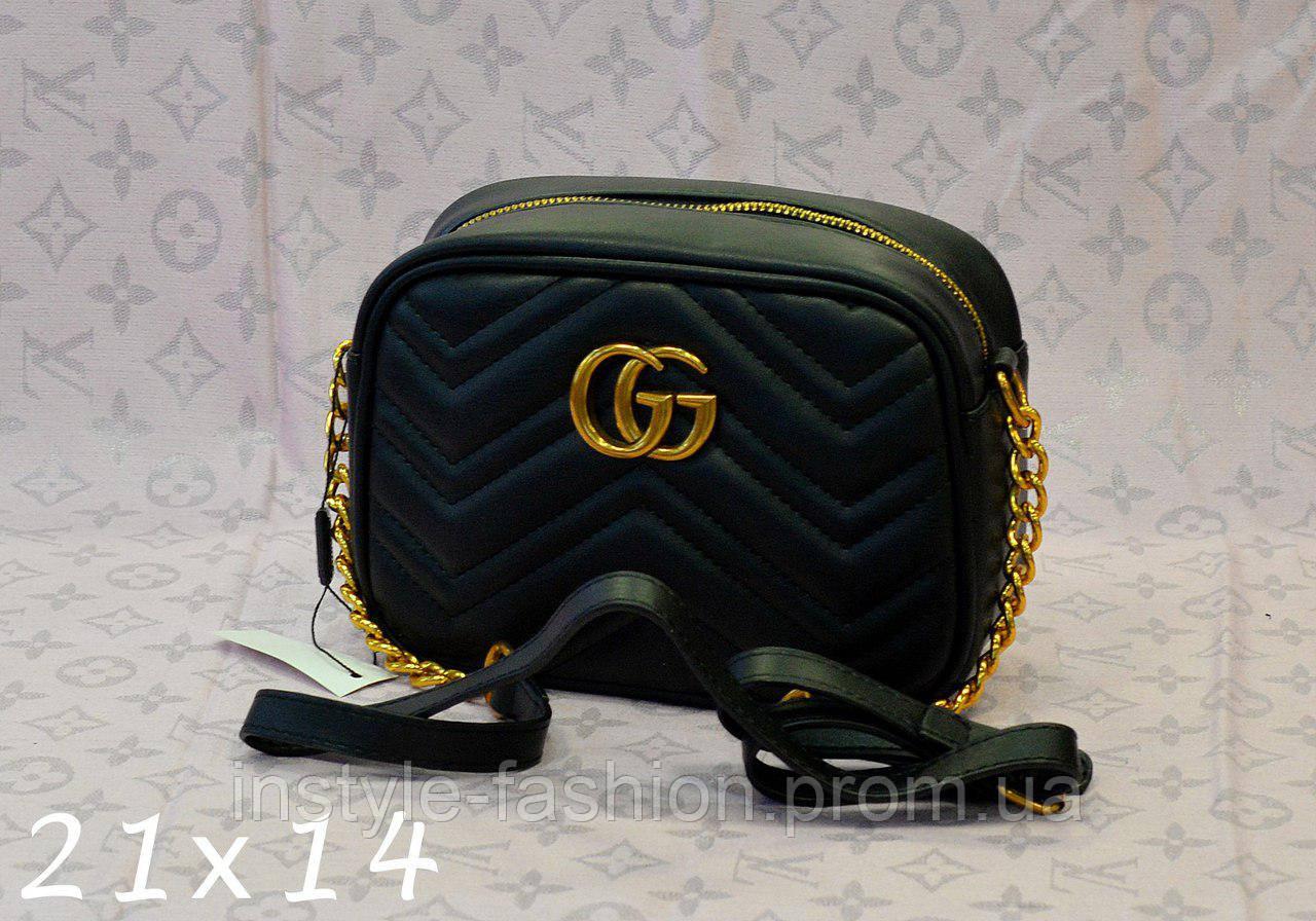 Сумка-клатч Gucci Гуччи через плечо цвет черный