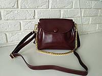 """Женская кожаная сумка """"Пуговка 3 Brown"""", фото 1"""