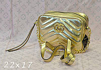 Сумка-клатч Gucci Гуччи через плечо цвет золотой