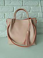 """Женская повседневная сумка """"Ия 2 Beige/Orange"""", фото 1"""