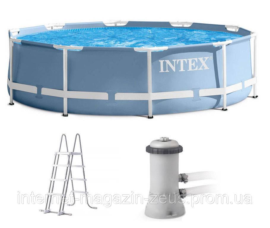 Каркасний басейн Intex 28718. Серія Prism Frame Pool 366 x 99 см
