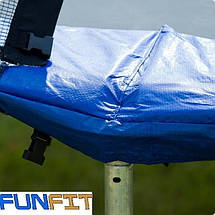 Батут 312 см FunFit Сетка и Лестница(B-FF312) Синий, фото 2