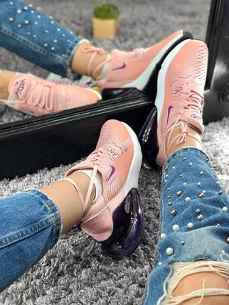 Размер только 41 !!! Женские кроссовки Nike Air Max 270 Pink / найк / реплика МОДЕЛЬ ВЕСНА 2018, фото 2