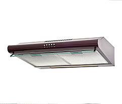 Двухмоторная кухонная вытяжка Ventolux ROMA 50 BR 2M LUX коричневая
