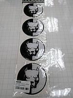 Силиконовые 3D наклейки на диски и колпаки ПИТБУЛЬ