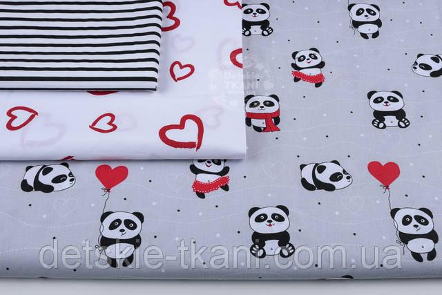ткань с пандами