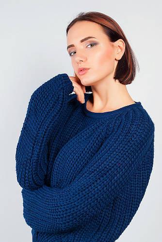 Джемпер женский свободного кроя 382F001 (Синий)