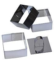 Набор 3 формы Dynasty для гарнира квадратные 8х8см с прессом