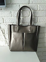 "Женская повседневная сумка-шоппер ""Аурика Silver Gray"", фото 1"