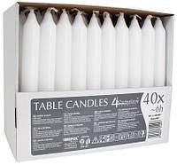 Свеча белая столовая для кейтеринга 1 шт.