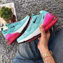 Женские кроссовки Nike Air Max 270 Blue Pink / найк  / ТОП МОДЕЛЬ ВЕСНА 2018