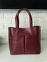 "Женская повседневная сумка-шоппер ""Аурика Red Wine"", фото 1"