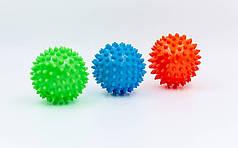 Мячик массажер резиновый  (d-8см, 40гр, цвета в ассортименте)