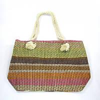Коричневая сумка для пляжа