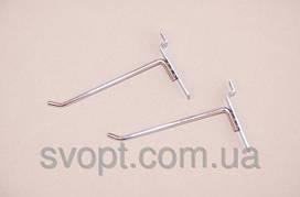 Крючок хромированный в эконом панель,10 см (6 мм)
