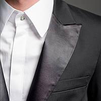 Мужской стильный пиджак от смокинга черный