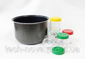 Чаша для мультиварки с антипригарным покрытием +5 баночек (5 л)