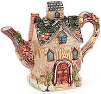"""Чайник заварочный """"Домик в деревне"""" Ягодка 700мл, керамический"""
