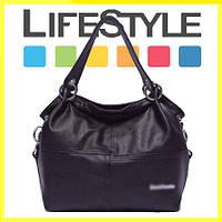 Женская кожаная сумка через плечо Weidipolo черный