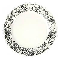 """Фарфоровая тарелка """"Давинчи"""" Ø23см плоская"""