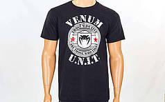 Футболка спортивная VENUM UNIT CO-5860-1-BK черный (хлопок, р-р S-L)
