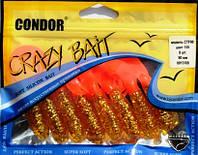 Мягкая приманка Твистер Crazy bait CTF90 (длина 90мм), цвет 109, 8шт,