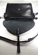 91-2Сумка женская натуральная кожа, черный, фото 3