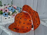 """Реперки  детские с прямым козырьком на окружность головы 50-54см. """"МСМ"""" (оранжевый)"""