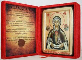 Икона греческая В родах помощница золото