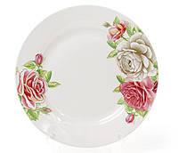 """Набір 6 фарфорових десертних тарілок """"Чайна троянда"""" Ø19см"""