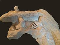 Ящерица -скульптура для сада, фото 1