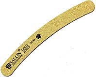 Пилки для ногтей SALON PROFESSIONAL (80/80) бумеранг, узкие, золото, тефлон