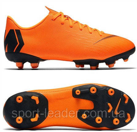 180d0949 Детские футбольные бутсы Nike Mercurial Vapor 12 Academy GS MG Junior  Orange AH7347-810
