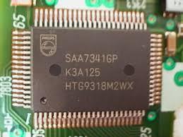 Микросхема SAA7341GP демонтаж